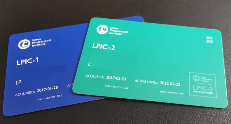 LPI certification cards