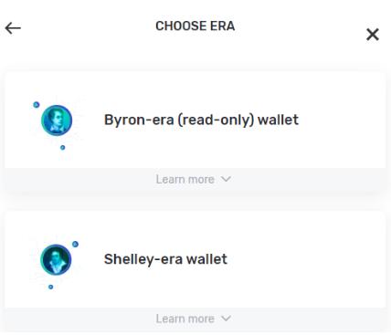 Choose Era wallet
