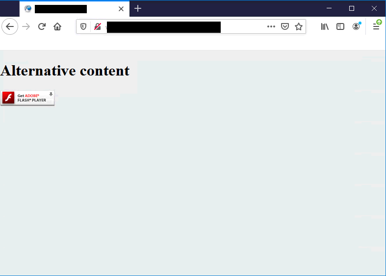 Flash end of life showing in Firefox