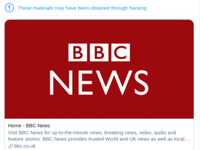 Twitter flagged BBC