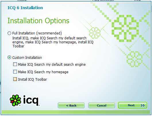 Using custom installation routine