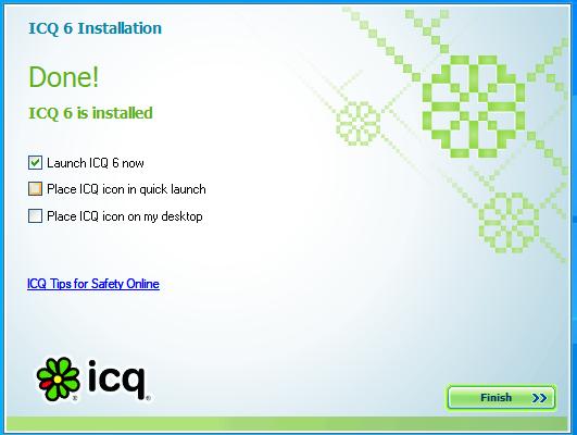 ICQ setup completed