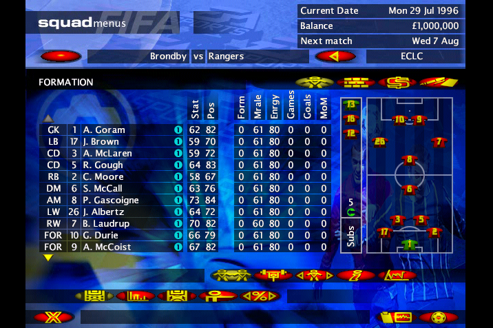 Glasgow Rangers in Fifa Soccer Manager
