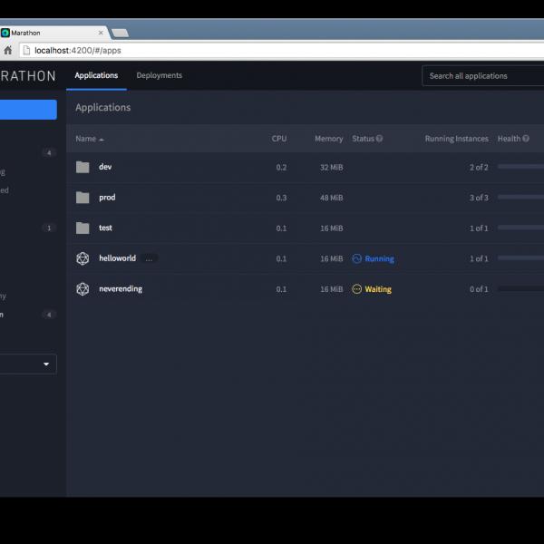 Marathon UI for Mesos