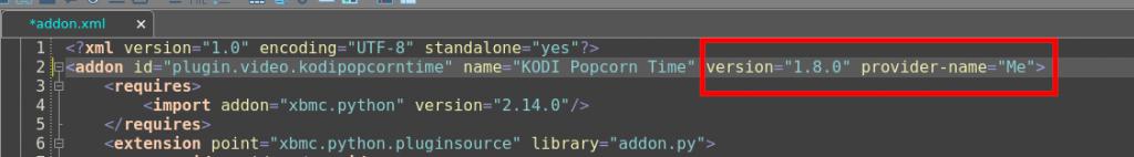 Adjust version of Kodi add-on