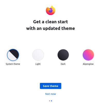 Firefox Theme Selection