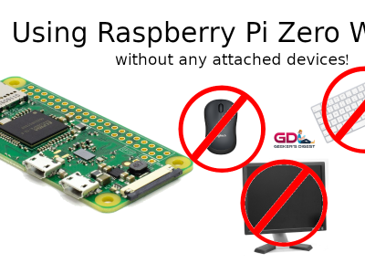 Using Raspberry Pi Zero W without any attached devices
